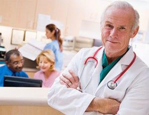 Doctor portrait at hospital