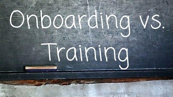 onboarding vs training