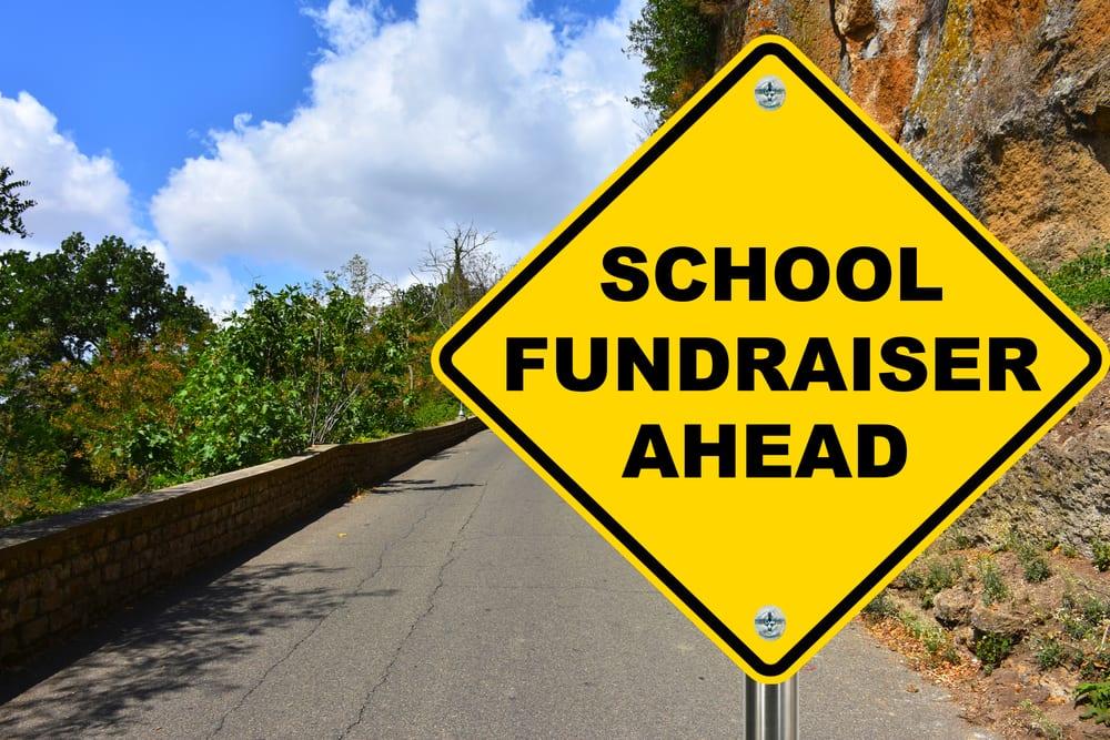 School Fundraiser sign