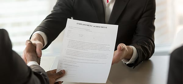 employee being hired with agreement