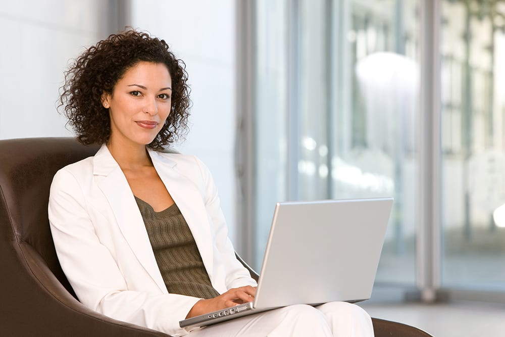 business woman on laptop